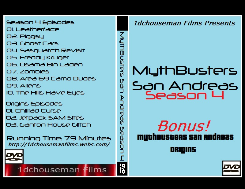 MythBusters San Andreas Season 4 DVD Cover